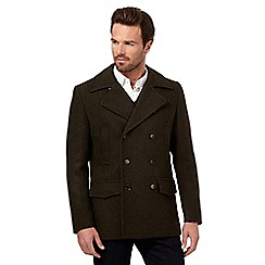 Hammond & Co. by Patrick Grant - Big and tall dark green wool blend pea coat