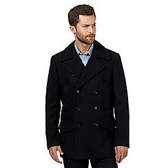 Hammond & Co. by Patrick Grant - Big and tall navy wool blend pea coat
