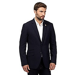 Hammond & Co. by Patrick Grant - Big and tall navy brooch checked blazer