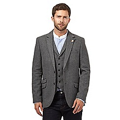 Hammond & Co. by Patrick Grant - Big and tall grey herringbone blazer jacket