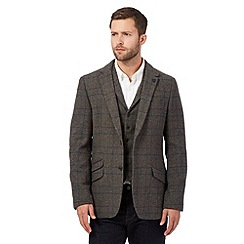 Hammond & Co. by Patrick Grant - Big and tall grey wool blend check blazer