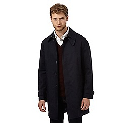 Hammond & Co. by Patrick Grant - Big and tall designer navy shower resistant mac coat