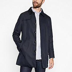 Hammond & Co. by Patrick Grant - Big and tall navy shower resistant quilted ribbed baseball jacket