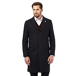 Hammond & Co. - Navy checked Epsom coat