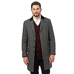 Hammond & Co. - Grey herringbone wool blend Epsom coat