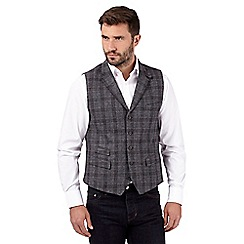Hammond & Co. by Patrick Grant - Big and tall grey checked wool blend waistcoat
