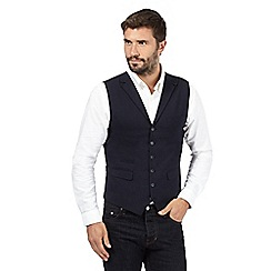 Hammond & Co. by Patrick Grant - Big and tall navy wool blend pocket waistcoat