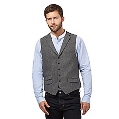 Hammond & Co. by Patrick Grant - Big and tall grey herringbone waistcoat