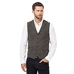 Hammond & Co. by Patrick Grant - Big and tall grey wool blend check waistcoat