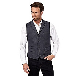 Hammond & Co. by Patrick Grant - Big and tall navy chalk stripe wool-blend waistcoat