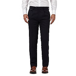 Hammond & Co. by Patrick Grant - Navy wool blend textured trousers