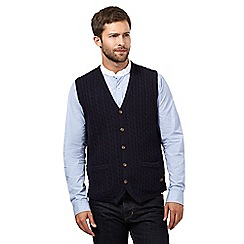 Hammond & Co. by Patrick Grant - Big and tall navy cable button tank waistcoat