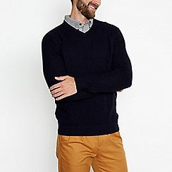 Hammond & Co. by Patrick Grant - Navy funnel neck jumper