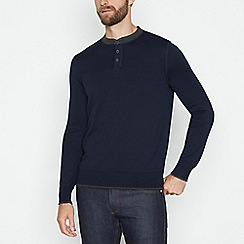 Hammond & Co. by Patrick Grant - Big and tall patchwork crew sweater