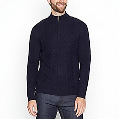 Hammond & Co. by Patrick Grant - Navy blue Fair Isle patterned jumper