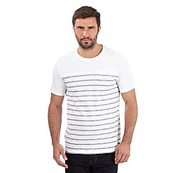 Hammond & Co. by Patrick Grant - Big and tall white breton striped cut and sew t-shirt