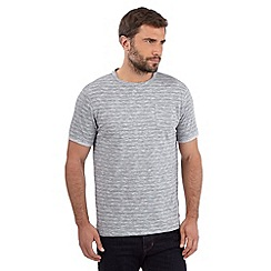 Hammond & Co. by Patrick Grant - Big and tall grey fine striped t-shirt