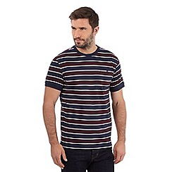 Hammond & Co. by Patrick Grant - Navy striped buttoned pocket t-shirt