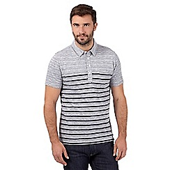 Hammond & Co. by Patrick Grant - Grey striped polo shirt