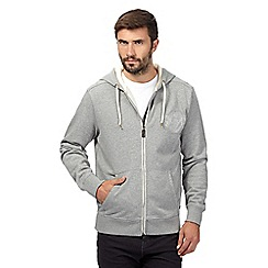 Hammond & Co. by Patrick Grant - Big and tall grey embroidered quilted hoodie