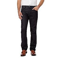 Hammond & Co. by Patrick Grant - Dark blue raw button fly straight leg jeans