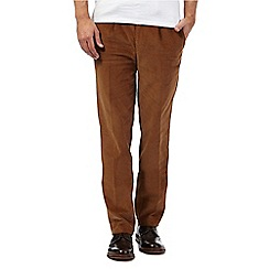 Hammond & Co. by Patrick Grant - Big and tall tan pleated cord trousers