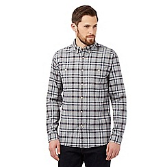 Hammond & Co. by Patrick Grant - Big and tall grey brushed checked shirt