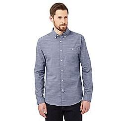 Hammond & Co. by Patrick Grant - Blue textured shirt