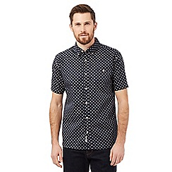 Hammond & Co. by Patrick Grant - Navy geometric short sleeved shirt