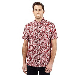 Hammond & Co. by Patrick Grant - Big and tall red fern print shirt