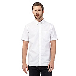 Hammond & Co. by Patrick Grant - Big and tall white linen blend shirt