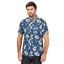 Hammond & Co. by Patrick Grant - Navy floral print short sleeved shirt