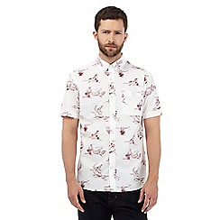 Hammond & Co. by Patrick Grant - White shark print shirt with 3D glasses
