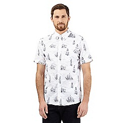 Hammond & Co. by Patrick Grant - Big and tall white ship print shirt