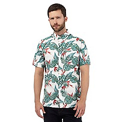 Hammond & Co. by Patrick Grant - Big and tall multi-coloured tropical leaf print shirt