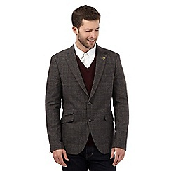Hammond & Co. by Patrick Grant - Big and tall brown wool blend checked jacket
