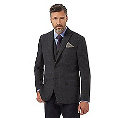 Hammond & Co. by Patrick Grant - Big and tall grey wool blend checked blazer