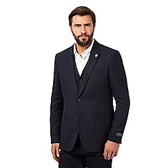 Hammond & Co. by Patrick Grant - Big and tall navy wool blend textured blazer