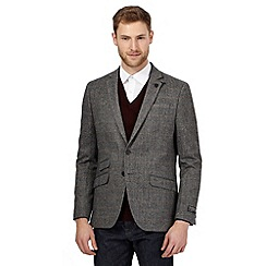 Hammond & Co. by Patrick Grant - Big and tall grey square overcheck jacket