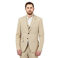 Hammond & Co. by Patrick Grant - Big and tall light tan single breasted linen blazer
