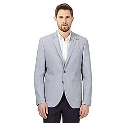 Hammond & Co. by Patrick Grant - Big and tall blue textured line single breasted jacket