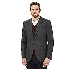 Hammond & Co. by Patrick Grant - Big and tall grey wool blend single breasted jacket