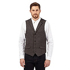 Hammond & Co. by Patrick Grant - Brown wool blend checked waistcoat