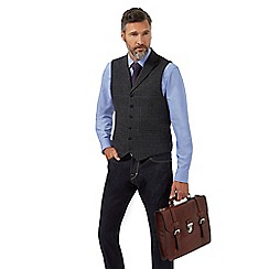 Hammond & Co. by Patrick Grant - Grey windowpane wool-blend waistcoat