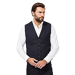 Hammond & Co. by Patrick Grant - Big and tall navy textured waistcoat