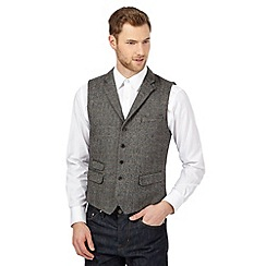 Hammond & Co. by Patrick Grant - Big and tall grey wool-blend overcheck waistcoat