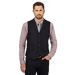 Hammond & Co. by Patrick Grant - Big and tall navy linen blend waistcoat