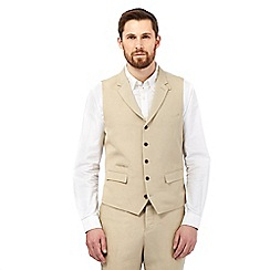 Hammond & Co. by Patrick Grant - Light tan single breasted linen waistcoat