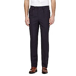 Hammond & Co. by Patrick Grant - Big and tall navy linen blend trousers