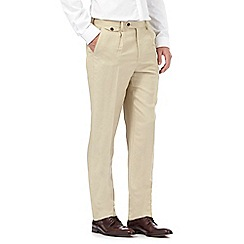 Hammond & Co. by Patrick Grant - Big and tall beige linen blend trousers